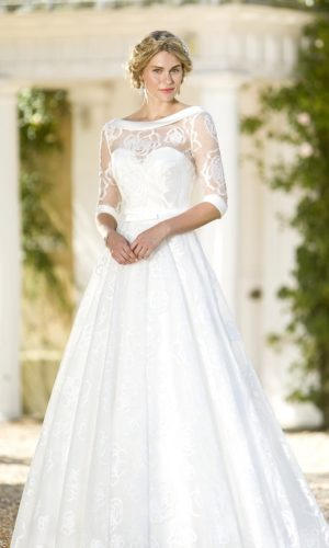 True Bride W261 ivory bridal gown and bolero jacket